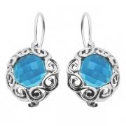 Серебряные серьги Yaffo с голубым кварцем