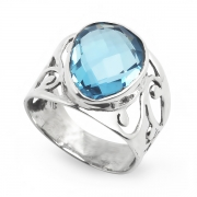Серебряное кольцо Yaffo с топазом