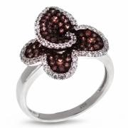 Серебряное кольцо Ombra с фианитами