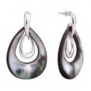 Серебряные серьги Sandara с перламутром