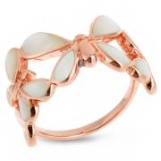 Серебряное кольцо Sandara c перламутром и позолотой