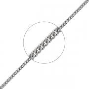 Серебряная цепь мужская плетение панцирь