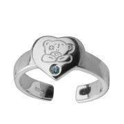 Серебряное кольцо Me to you с фианитом