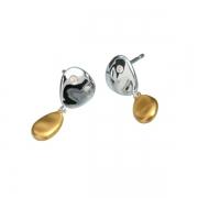Серебряные серьги Hot Diamonds с бриллиантами и позолотой