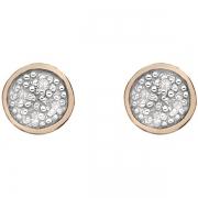 Серебряные серьги  Hot Diamonds с бриллиантом и позолотой