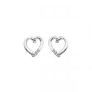 Серебряные серьги  Hot Diamonds с бриллиантами  и фианитами