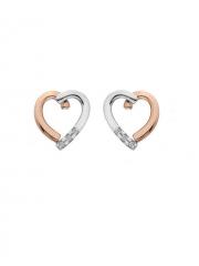 Серебряные серьги  Hot Diamonds с бриллиантами, фианитами и позолотой