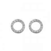Серебряные серьги Hot Diamonds с белыми топазами и бриллиантами