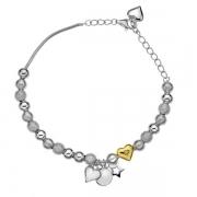 Серебряный браслет Hot Diamonds с бриллиантом  и позолотой