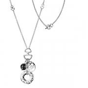Серебряный кулон Hot Diamonds с бриллиантом и гематитом