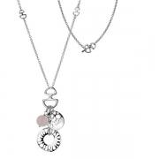 Серебряный кулон Hot Diamonds с бриллиантом и кварцем
