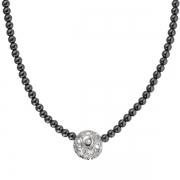 Серебряное колье Hot Diamonds с бриллиантом и гематитом