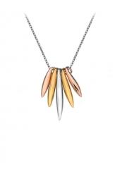 Серебряное колье  Hot Diamonds с бриллиантом и позолотой