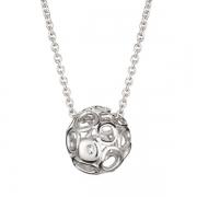Серебряный кулон Hot Diamonds с бриллиантами на цепи