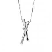 Серебряный кулон Hot Diamonds с бриллиантами на цепи. 40-45 см