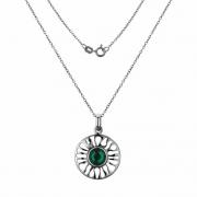 Серебряный кулон Hot Diamonds с бриллиантом и кристаллом Сваровски