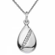 Серебряный кулон Hot Diamonds с бриллиантами на цепи, размер 40-45 см