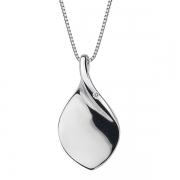 Серебряный кулон на цепи Hot Diamonds с бриллиантом на цепи, размер 40-45 см