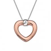 Серебряный кулон Hot Diamonds с бриллиантом и позолотой на цепи, размер 40-45 см
