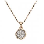 Серебряный кулон  Hot Diamonds с бриллиантами и позолотой