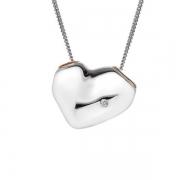 Серебряный кулон  Hot Diamonds с бриллиантом и позолотой