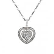 Серебряный кулон  Hot Diamonds с бриллиантом и фианитами на цепи