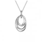 Серебряный кулон Hot Diamonds с бриллиантом на цепи
