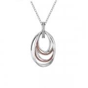 Серебряный кулон Hot Diamonds с бриллиантом и позолотой на цепи