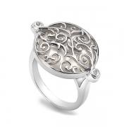Серебряное кольцо Hot Diamonds с бриллиантами и перламутром