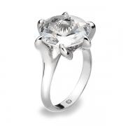 Серебряное кольцо Hot Diamonds с бриллиантом и кристаллом Сваровски