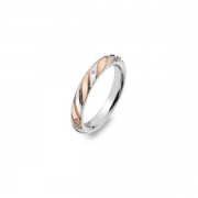 Серебряное кольцо Hot Diamonds с бриллиантом и позолотой