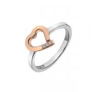 Серебряное кольцо Hot Diamonds с бриллиантами и позолотой