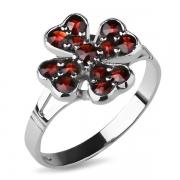 Серебряное кольцо Karluv Most с гранатом