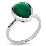 Серебряное кольцо Sandara c ониксом