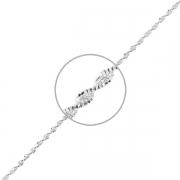 Серебряная цепь плетение Серпантин