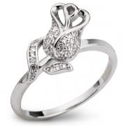 Серебряное кольцо Sandara с фианитами