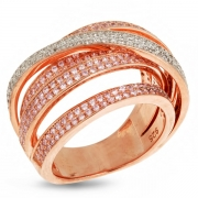 Серебряное кольцо Sandara Ice с фианитами