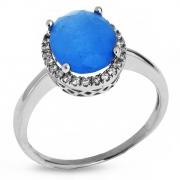 Серебряное кольцо Sandara с фианитами и молочным кварцем