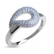 Серебряное кольцо Sandara Ice с синт. опалом