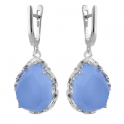 Серебряные серьги Joli с голубым кварцем