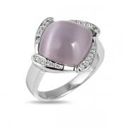 Серебряное кольцо Joli с тигровым глазом и фианитами