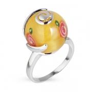 Серебряное кольцо с тигровым (кошачьим)  глазом