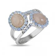 Серебряное кольцо Joli с кварцем и фианитами