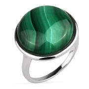 Серебряное кольцо Joli с малахитом