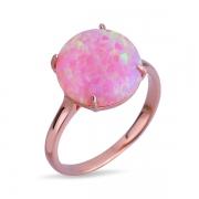 Серебряное кольцо Joli с опалом и позолотой