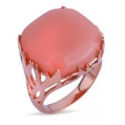 Серебряное кольцо Joli с кварцем и позолотой