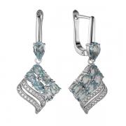 Серебряные серьги Sandara с топазами и фианитами