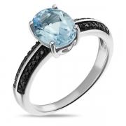 Серебряное кольцо Sandara с топазом и фианитами