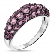 Серебряное кольцо Sandara с аметистами