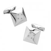 Серебряные запонки Hot Diamonds с бриллиантами